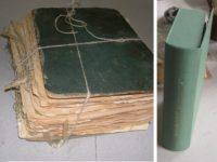 Původní a opravená poškozená knižní vazba