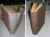 Vazba knihy před naší opravou a po ní