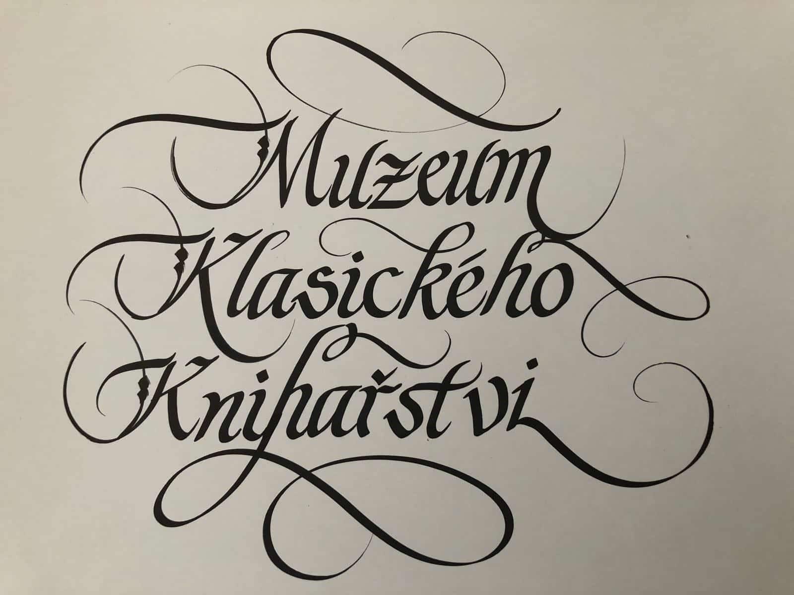 Kaligrafický nápis na přání