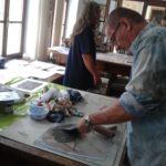 workshop linoryt - příprava barev