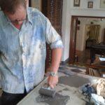 workshop linoryt - naválení matrice