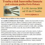 Pozvánka na workshop Tvorba a tisk barevného linorytu - pořádá Muzeum klasického knihařství