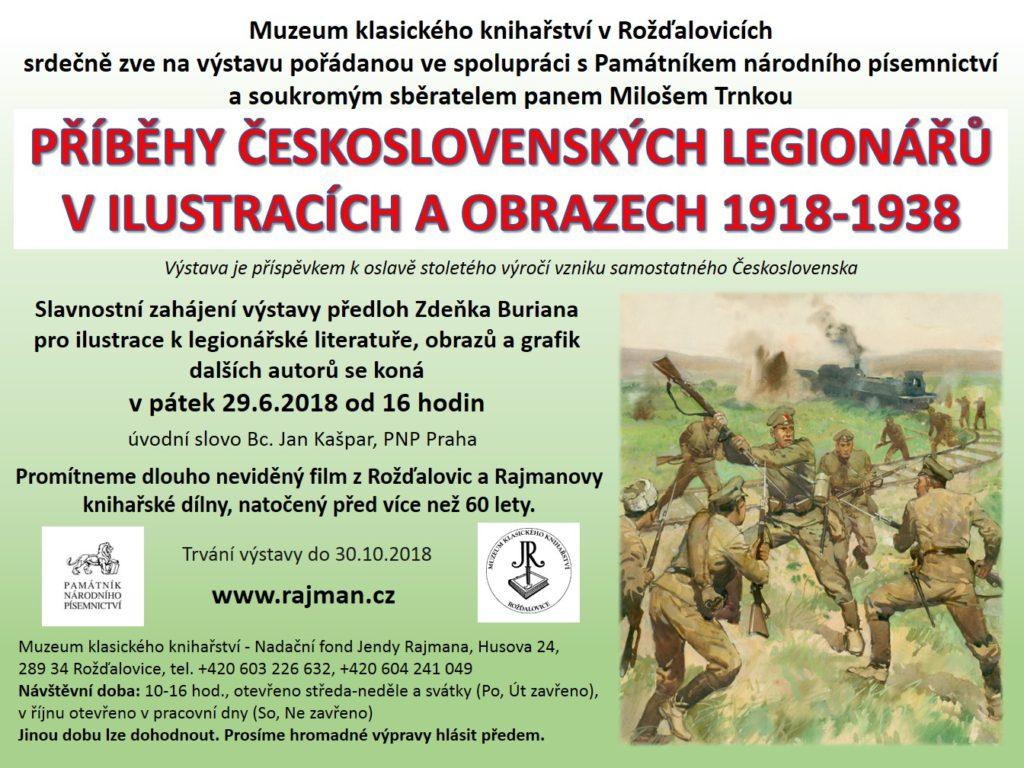 Plakát výstavy Příběhy československých legionářů v ilustracích a obrazech 1918-1938