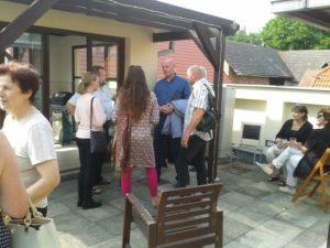Vernisáž výstavy Legionáři - na terase