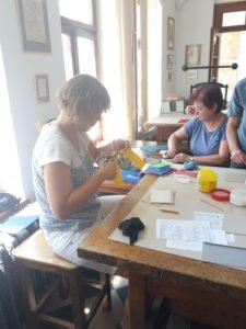 Workshop - tvoření - vazba zápisníčku
