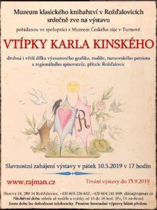 Plakát výstavy Karla Kinského